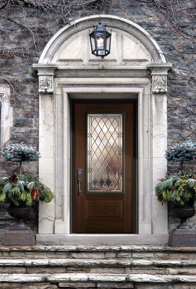 Masonite belleville hollister entry door in avantguard for Black entry door with glass