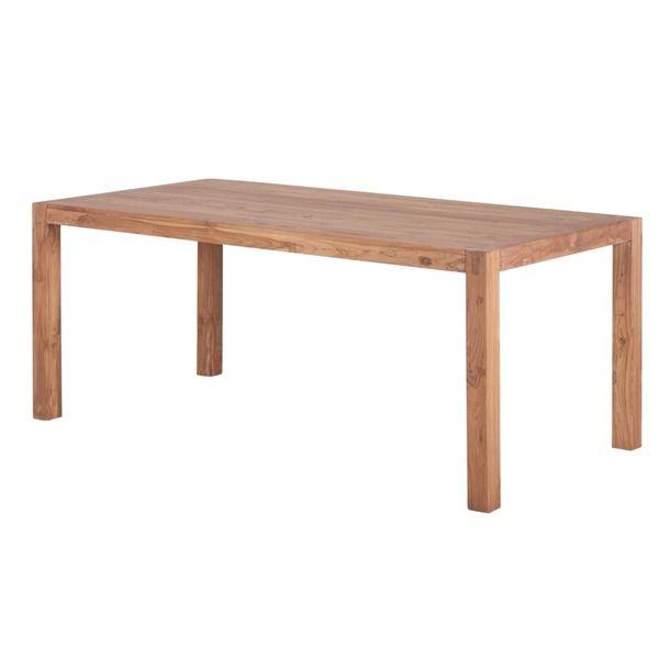 Reclaimed Teak Wood Simple Dining Table India Single And