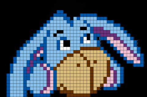 Eeyore Winnie The Pooh Pixel Art Dessin Quadrillage Pixel