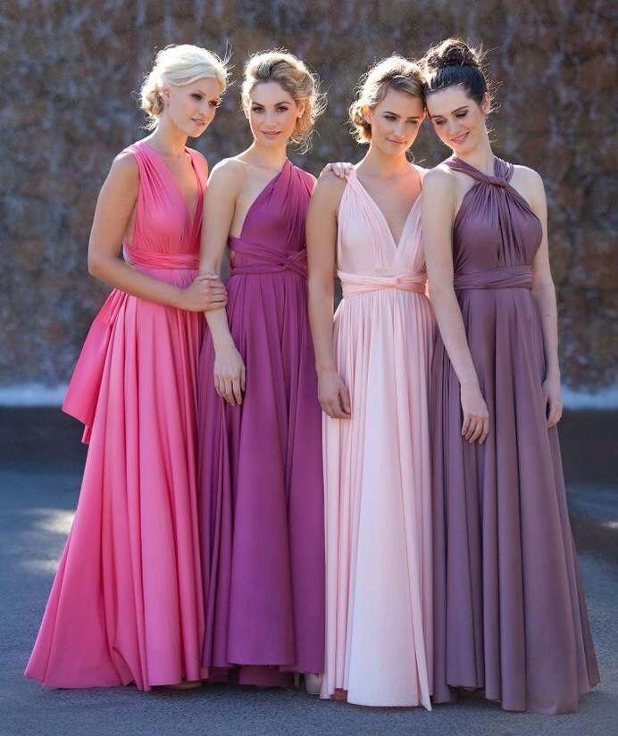 Paleta de colores en rosa para las damas | damas de honor ...