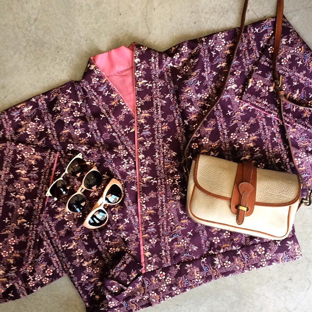 Vintage kimono jacket, free size, $69+$16 domestic shipping. Vintage Dooney & Bourke bag, $64+$12 domestic shipping. Call the shop at 415-796-2398 to purchase by phone or send PayPal payment to afterlifeboutique@gmail.com and reference item in post.