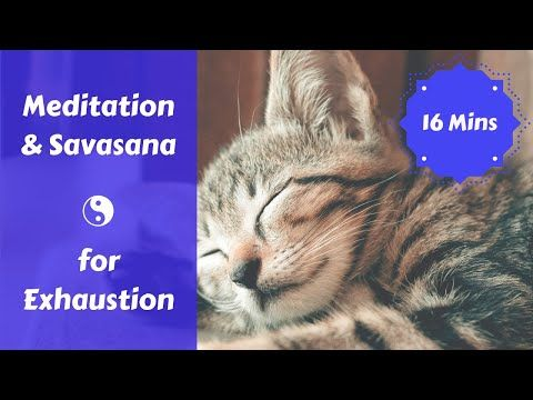 meditation for when you feel depleted  exhausted 16 mins