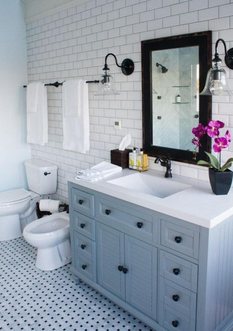 How To Decor Small Bathroom With Grey Colors Cottage Bathroom Design Ideas Blue Bathroom Accessories Traditional Bathroom