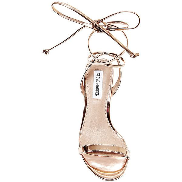 Steve Madden Women's Mysty Stilettos Sandals (€35) ❤ liked on Polyvore featuring shoes, sandals, evening shoes, heels stilettos, metallic shoes, steve-madden shoes and metallic sandals
