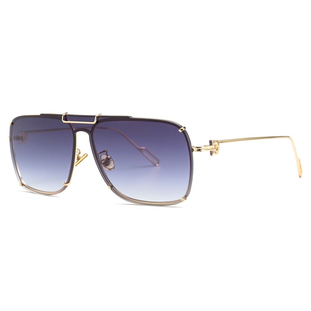 d3f742557861 Peekaboo gold one piece sunglasses men square metal frame 2019 high fashion  sun glasses for women