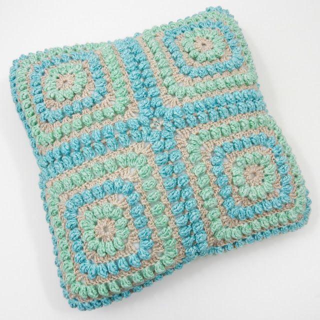 Free Crochet Pattern Popcorn Cushion Cover Free Crochet Pattern On