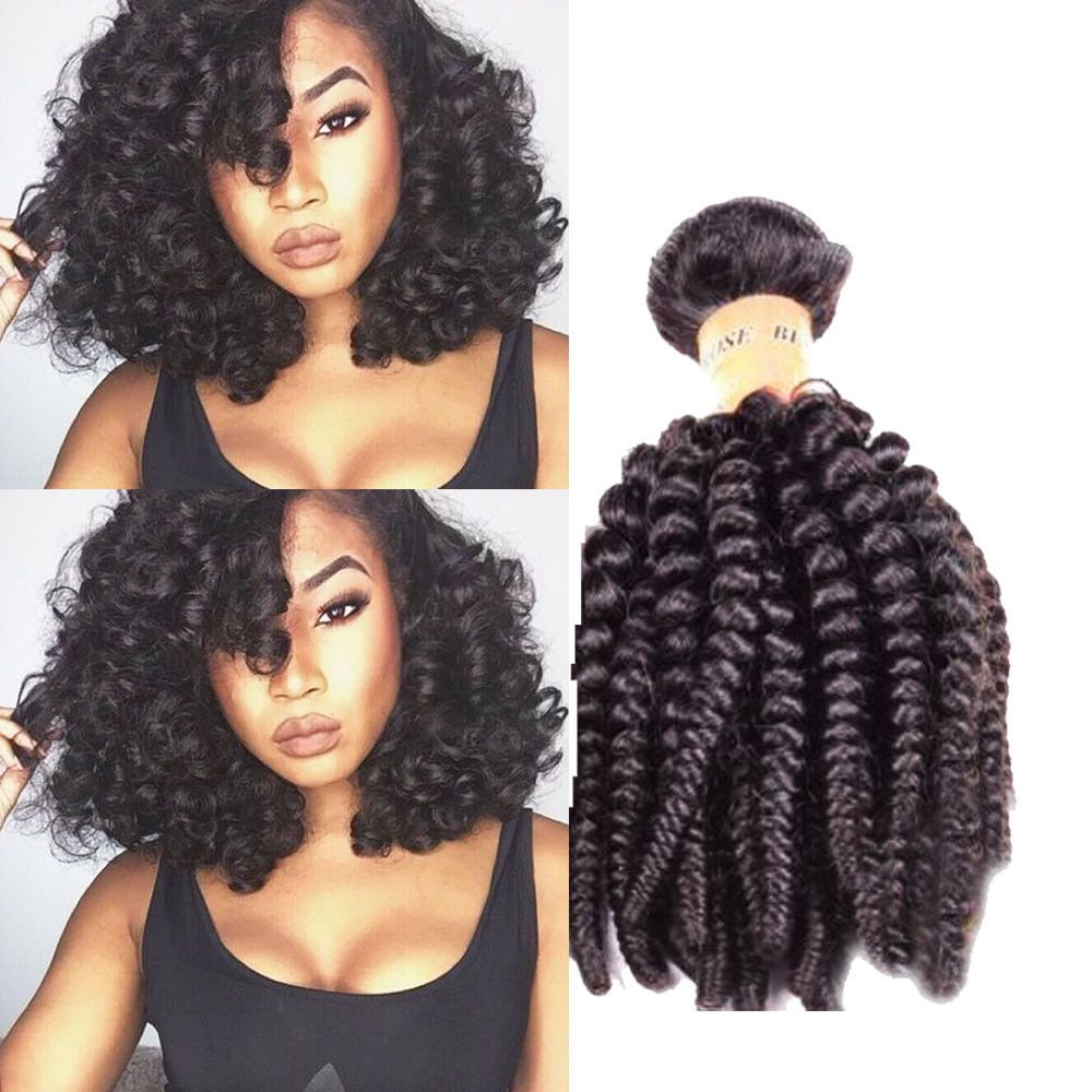 3bundles 16 300g Real Human Hair Extension Ombre Hair Kinky Curly