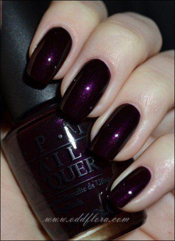 oddflora, nails, nail polish, purple, purple nails, purple nail ...