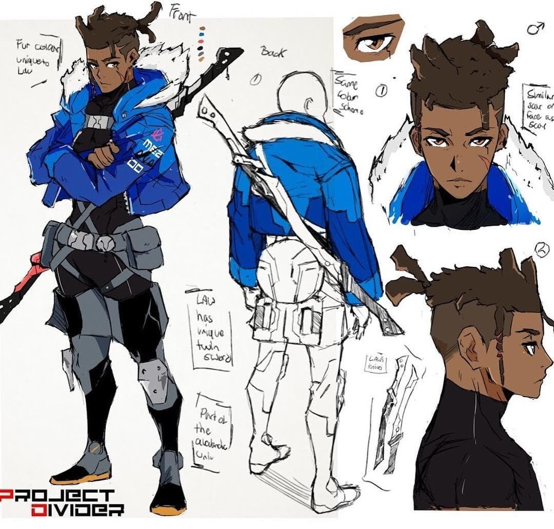 Art by projectdivider in 2019 Black anime characters