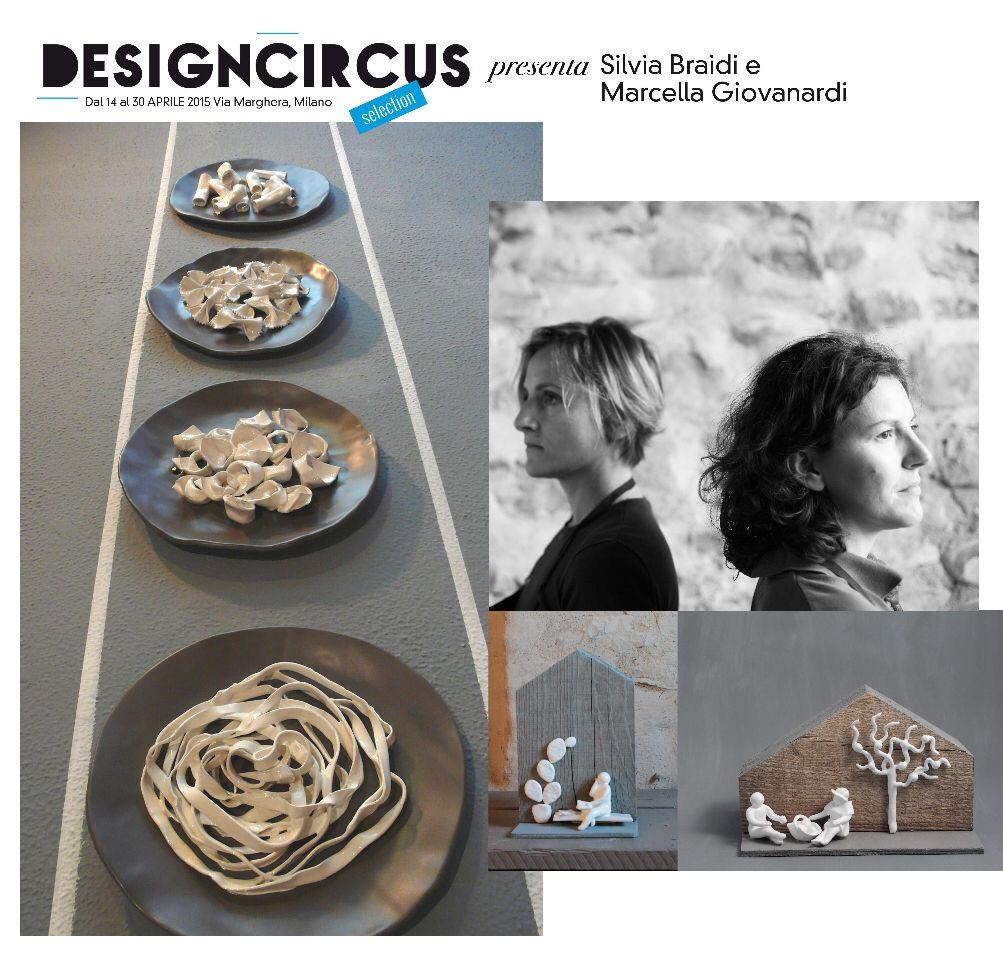 """DesignCircus Stationary, in via Marghera, dal 14 al 30 aprile presenta Silvia Braidi e Marcella Giovanardi presentano """"Attimi di vita"""", omini realizzati a mano in ceramica smaltata che sono vere e proprie scene di vita. Come sfondo, casette di legno."""
