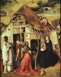 ... dell'Epifania (dettaglio) olio su pannello Museo del Prado, Madrid