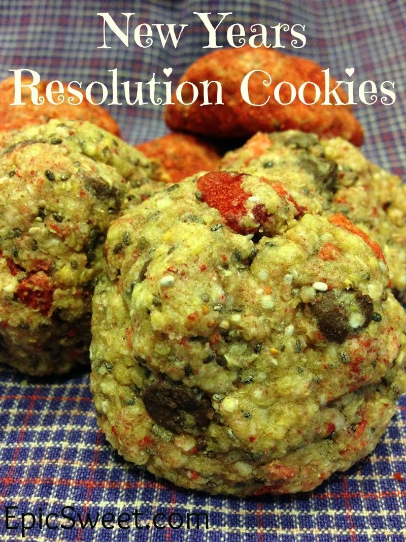 New Years Resolution Cookies: these cookies are packed with healthy ingredients like chia, quinoa, dark chocolate, and strawberries. But you wouldn't know it to eat them they are delicious!!