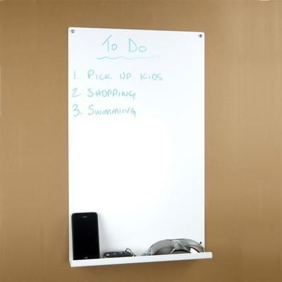 Vertical Magnetic Memo Board   White