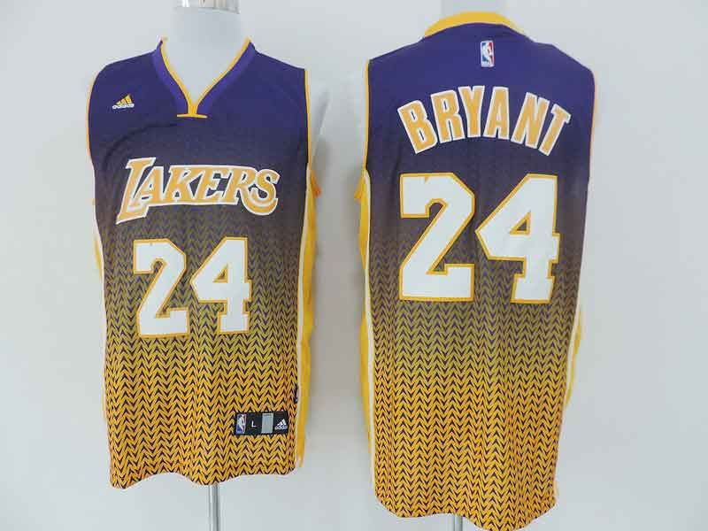 ... Adidas NBA 24 Kobe Bryant Los Angeles Lakers Resonate Fashion Swingman  Gold With Purple Jersey ... 0c68ba916