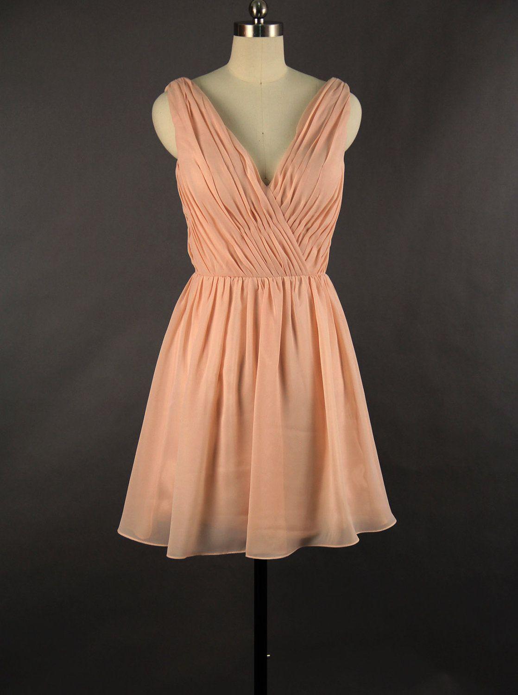V-neck Bridesmaid Dress 2013. $89.00, via Etsy.