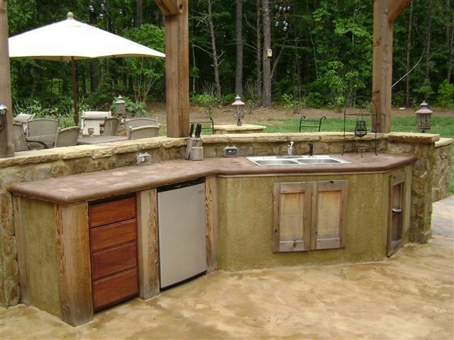 rustic outdoor kitchen outdoor kichen Pinterest Outdoor