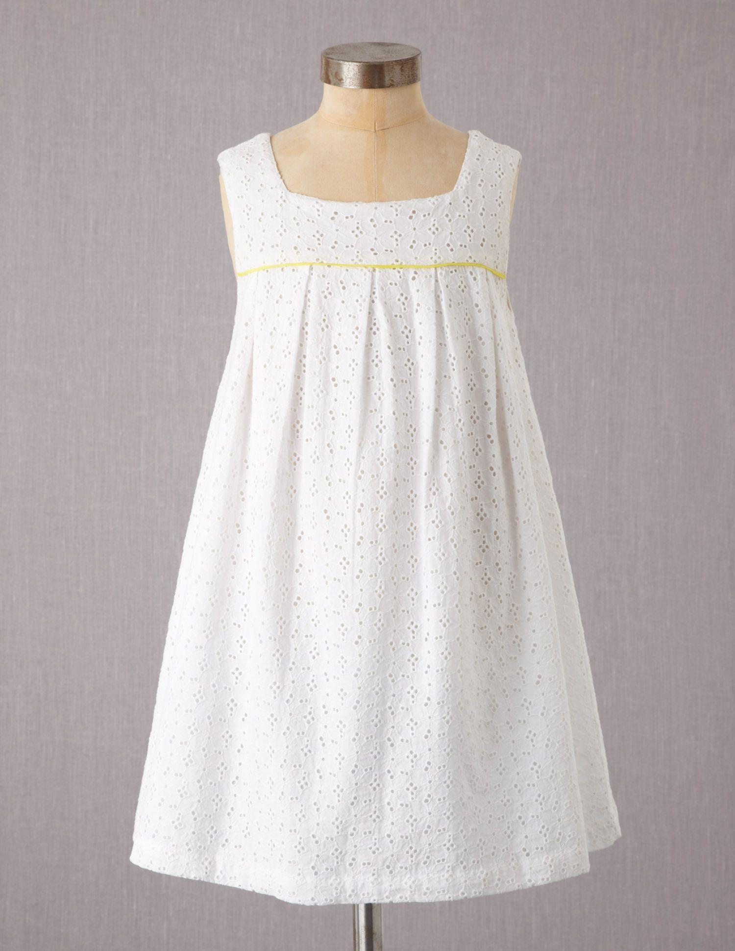 White summer dress for girls