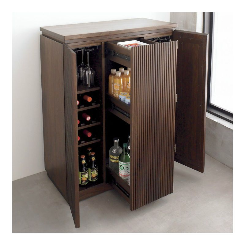 monaco liquor wine rack whiskey glasses storage bar cabinet steamer trunk bar