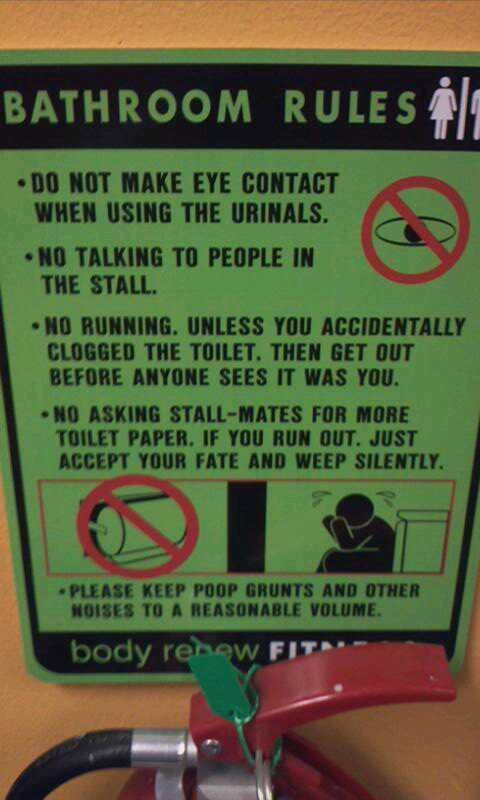 Bathroom Sign Meme 35 hysterical public restroom signs | cute stuff and humor