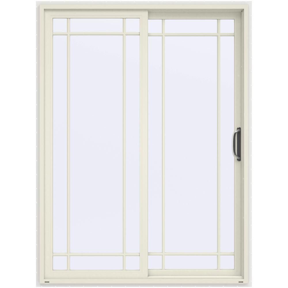 Jeld Wen 60 In X 80 In V 4500 French Vanilla Prehung Right Hand