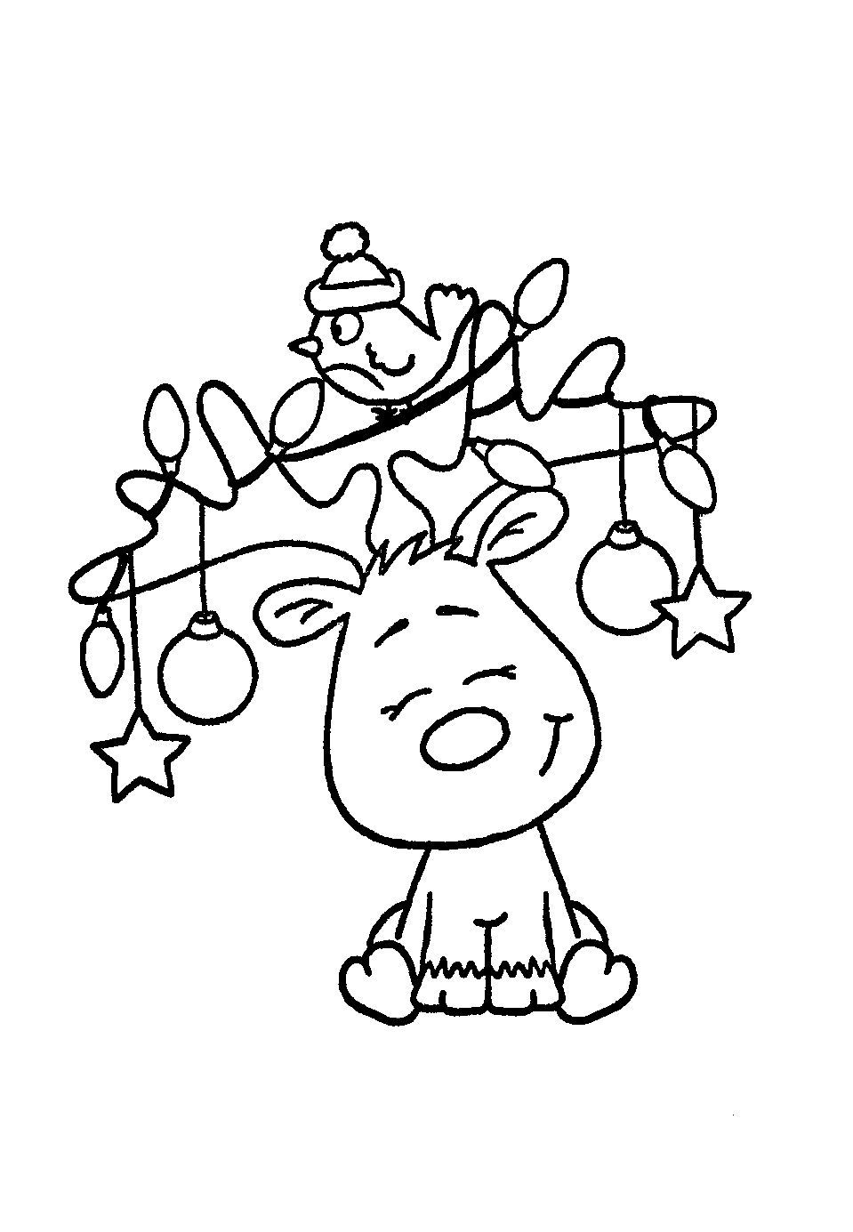 Printable Moose Coloring Pages For Kids | 1385x959