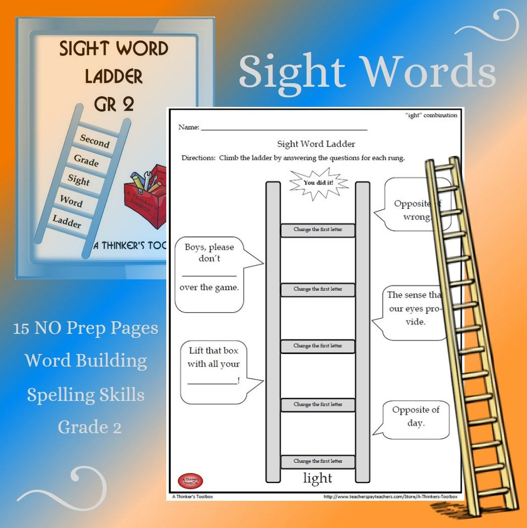 Spelling Ladder Worksheet   Printable Worksheets and Activities for  Teachers [ 1047 x 1046 Pixel ]