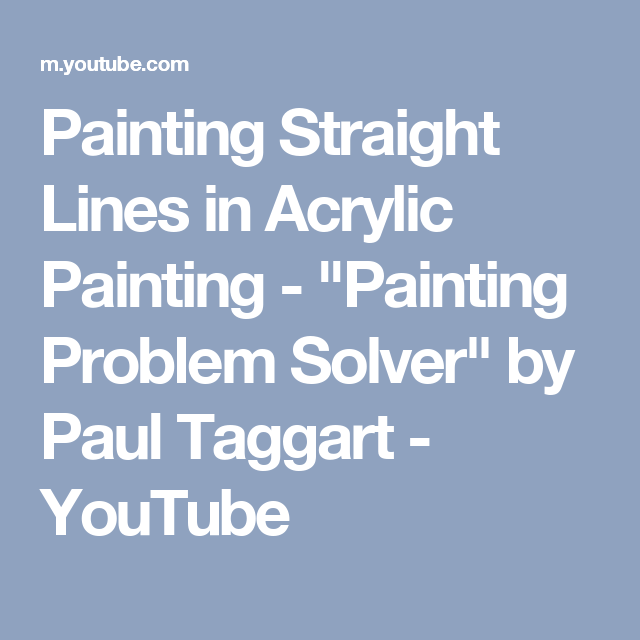 Painting Straight Lines in Acrylic Painting - \
