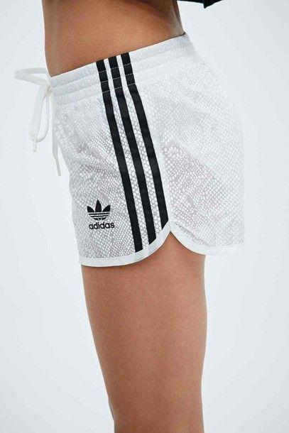 5606f80652d3e Shorts  white snake print gym adidas adidas originals gym gym clothes  sportswear
