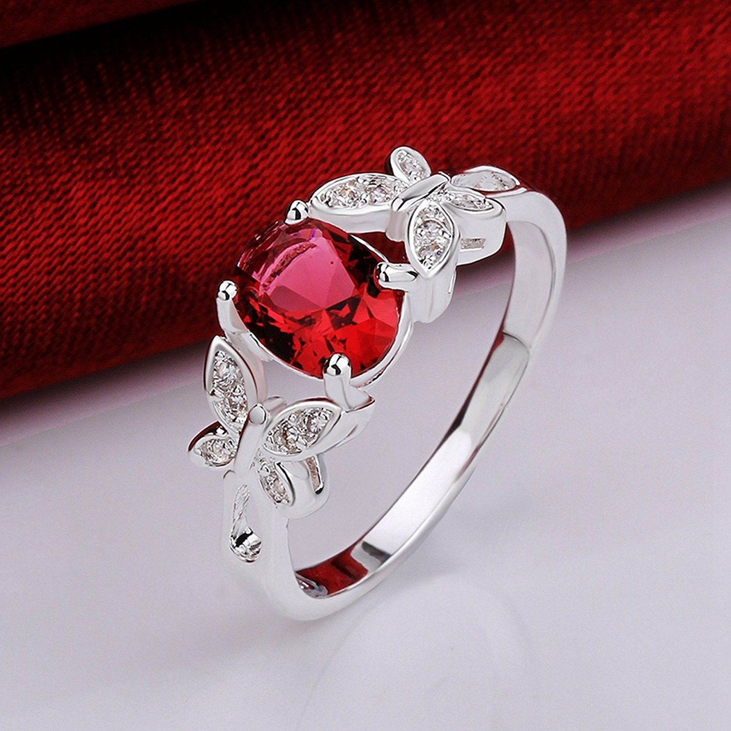 Butterfly Solitaire Engagement Anniversary CB12E5W24N1
