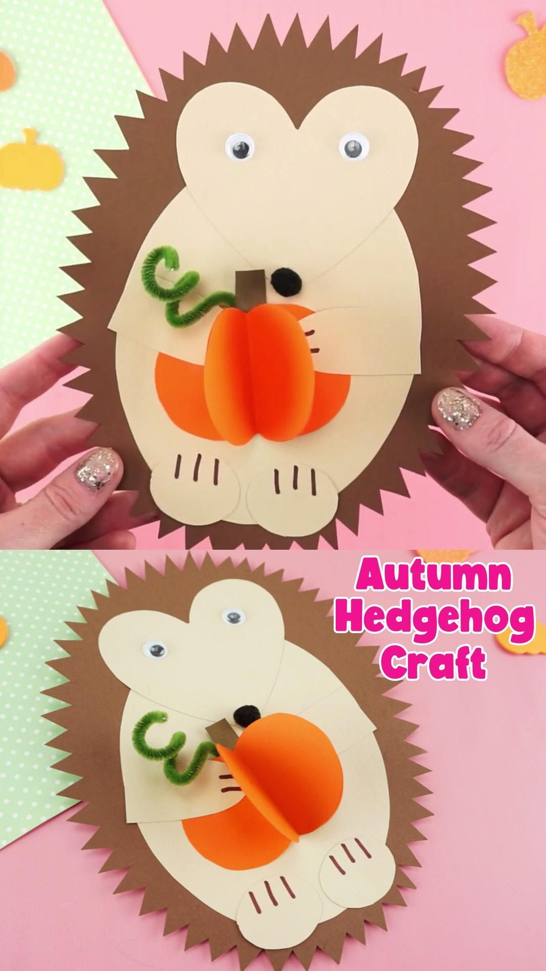 Photo of Paper Hedgehog Fall Craft for Kids