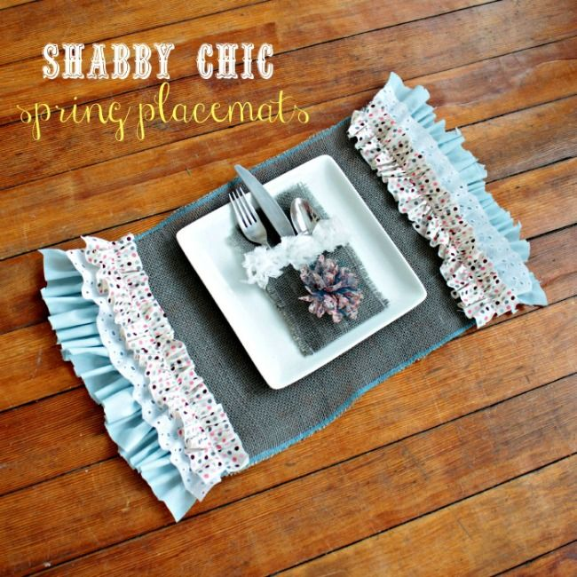 Shabby Chic Spring Placemats Oh My Creative Spring Diy Projects Spring Diy Diy Placemats
