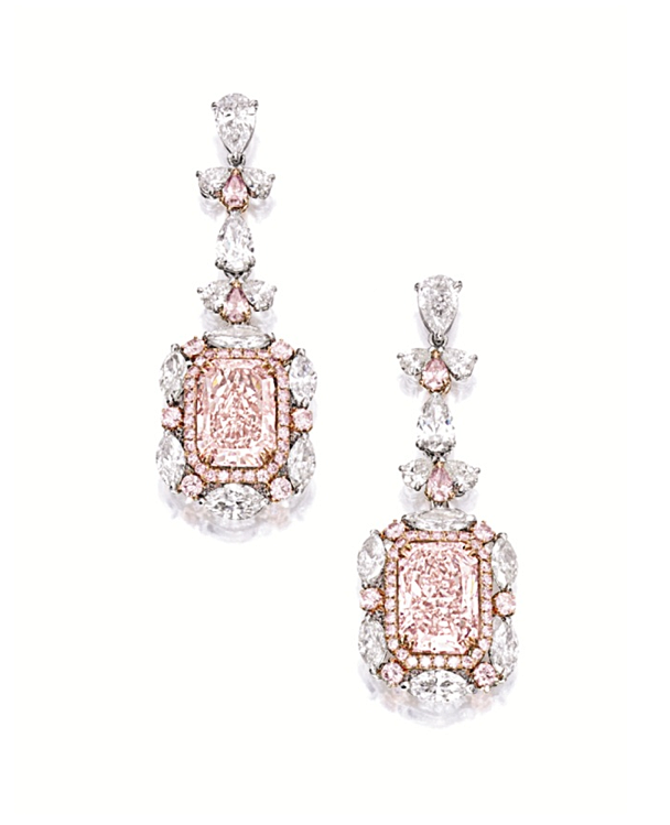 Lot Sotheby S Pink Diamond Earrings Fancy Pink Diamond Pink Diamond