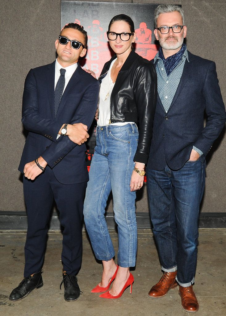 Casey Neistat, Jenna Lyons and Frank Muytjens at a J.Crew event celebrating Neistat and Travel With Style in New York.
