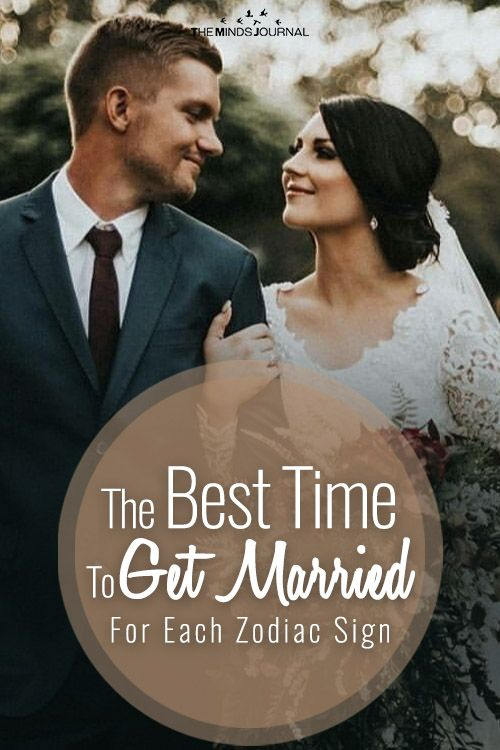 The Best Time To Get Married For Each Zodiac Sign