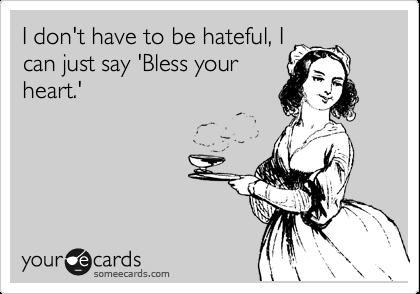 Bless it.....