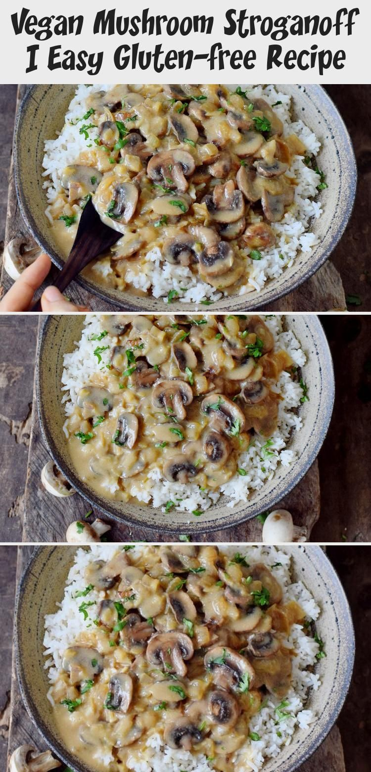 Easy Vegan Mushroom Stroganoff with rice This healthy glutenfree dish is a great comfort meal Its creamy flavorful and it takes less than 30 minutes to cook it