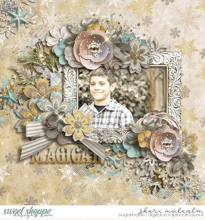 Digital scrapbook page by SeattleSheri using Christmas Spirit: COLLECTION & *FWP* by Studio Flergs
