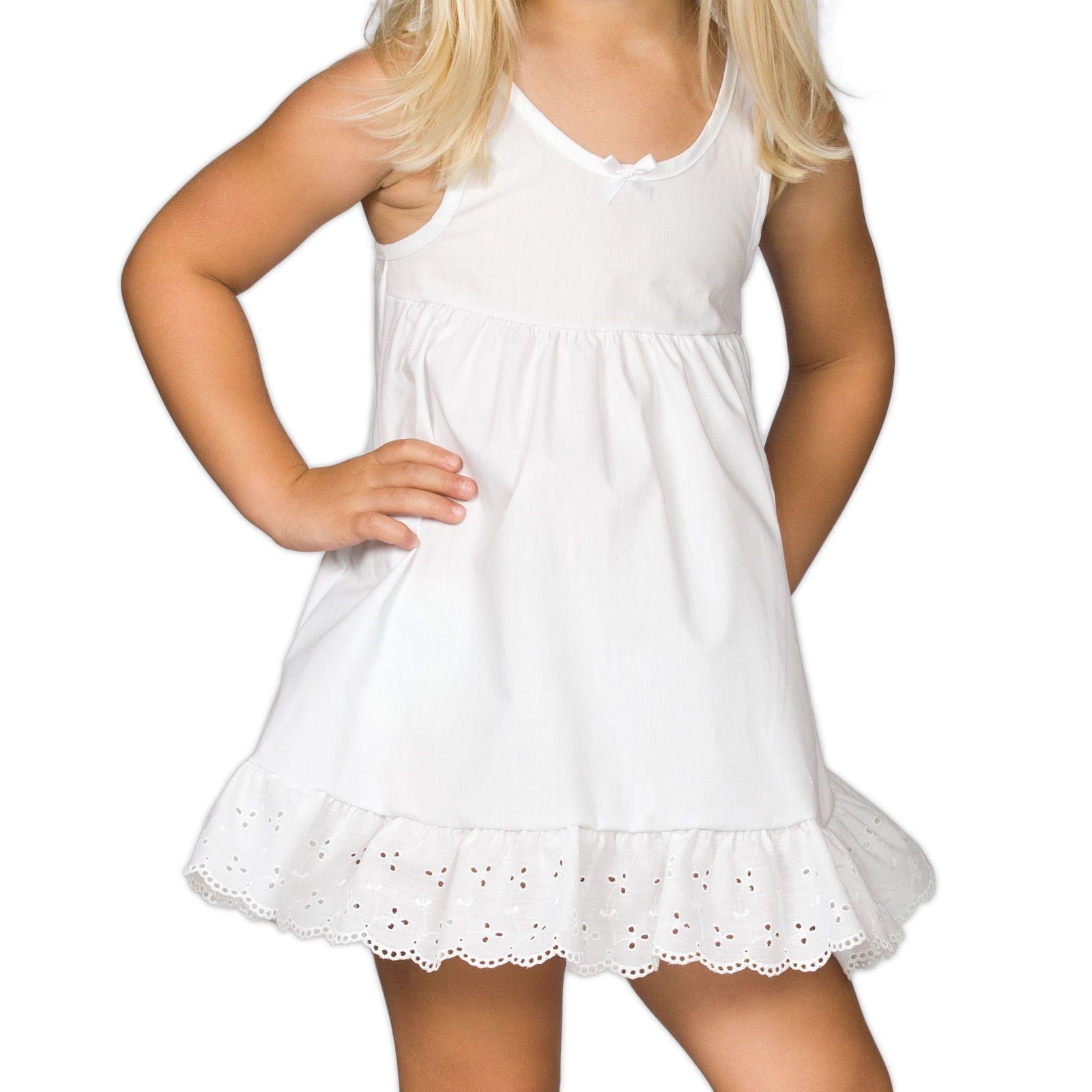 2T - 14 Girls White Bouffant Full-Slip Petticoat Extra Full,