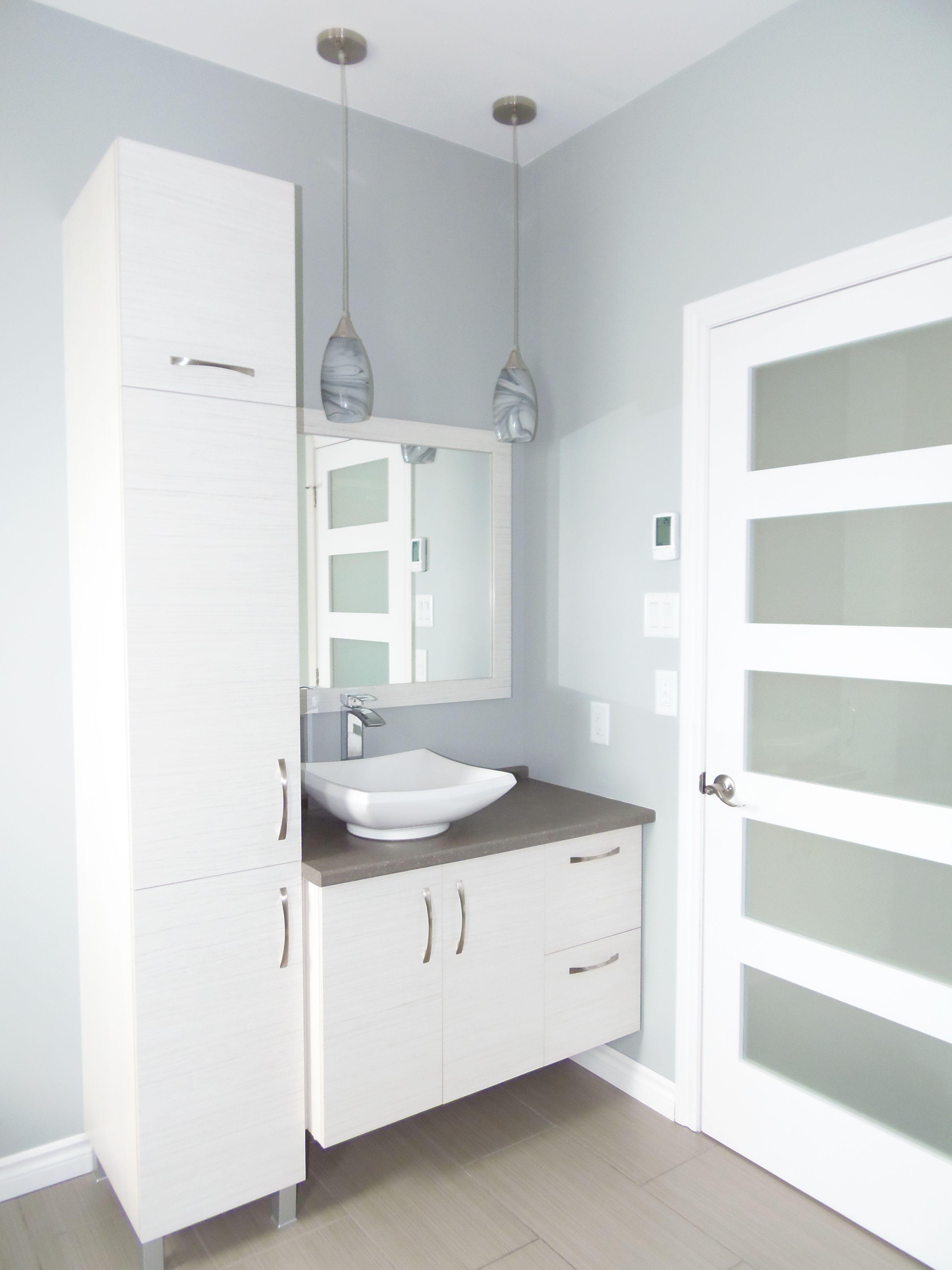 salle de bain contemporaine salle de bain en 2019 pinterest bathroom bathroom cupboards. Black Bedroom Furniture Sets. Home Design Ideas