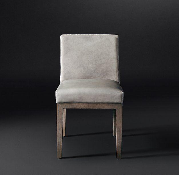 f4bbc403c2 RH Modern - Morgan Track Arm Leather Side Chair   RH Modern   Chair ...