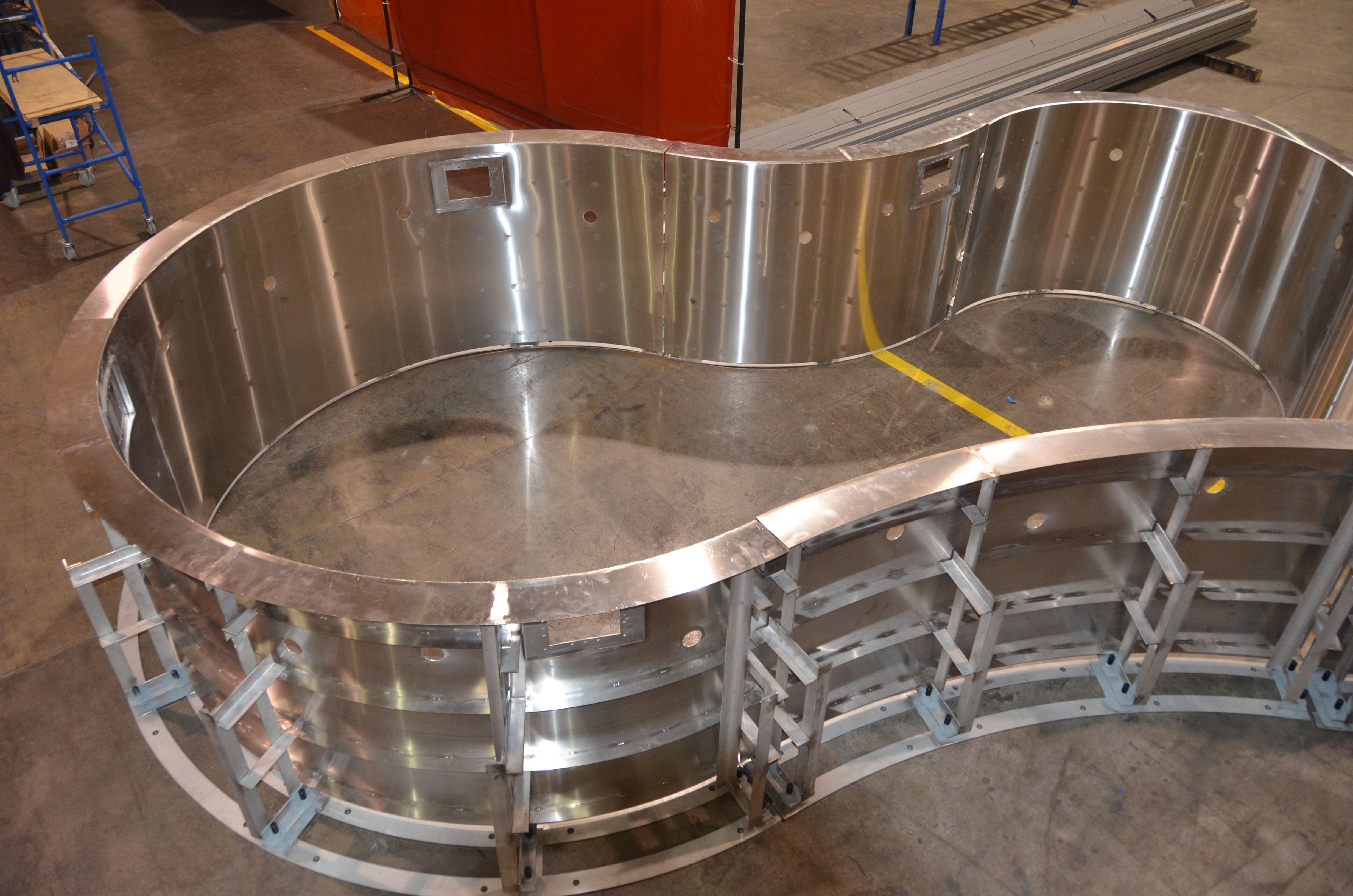 Ever wonder what a stainless steel spa looks like before it goes in the ground? Here's a behind the scenes look!