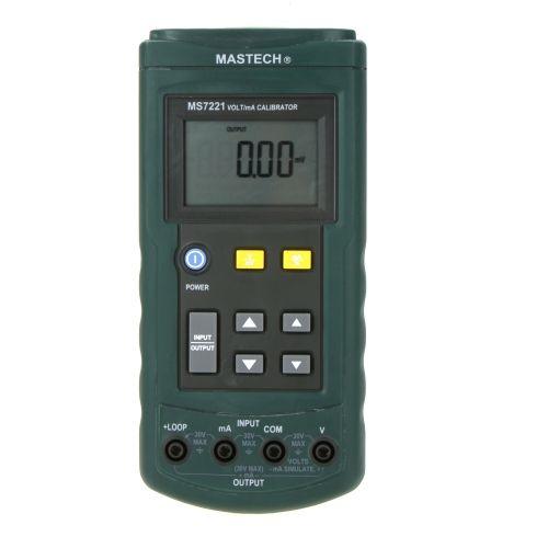 MASTECH MS7221 Voltage Current Calibrator 0~24mA DC Current Loop / 0~10V DC Voltage Tester