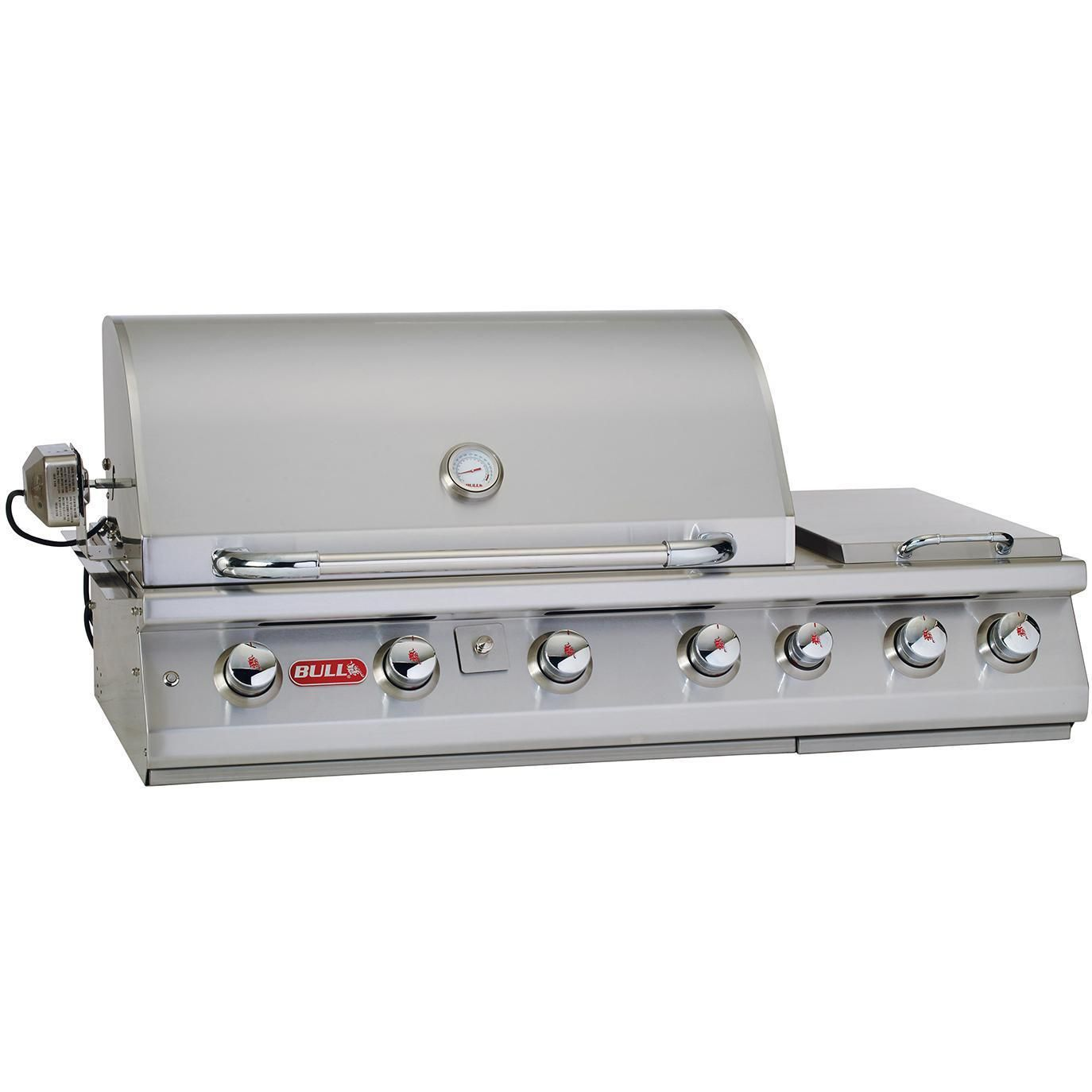 Bull Premium 47 Inch 7 Burner Built In Natural Gas Grill With Rotisserie Double Side Burner 18249 Bbqguys Natural Gas Grill Gas Bbq Outdoor Appliances