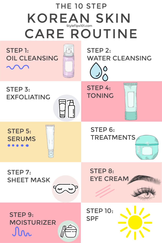 10 Step Korean Skin Care Routine Care Korean Routine Skin Step Care Korean Routine Routinecar Skin Care Routine Steps Skin Care Korean Skincare Routine