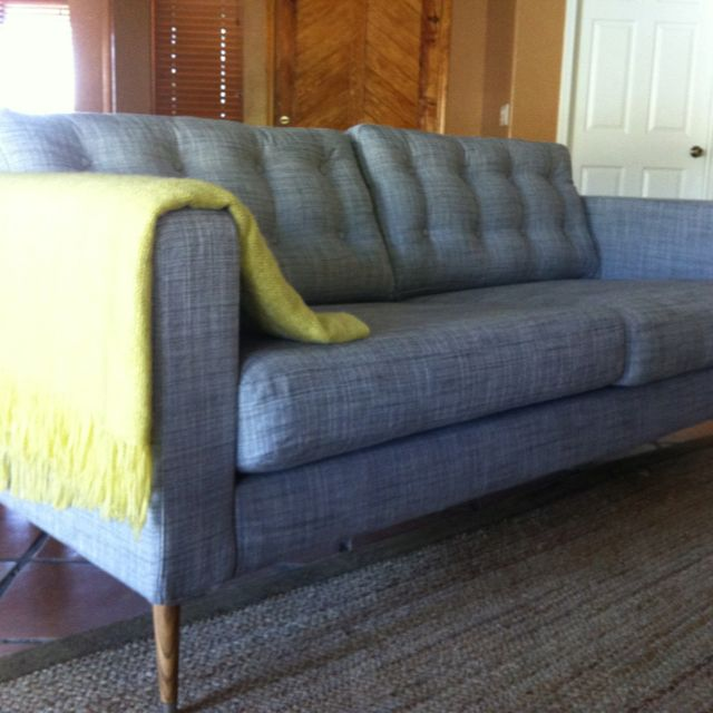 Ikea Karlstad Legs: Our $67 IKEA Karlstad Sofa Hack! :) $12 Legs, $7 Stain