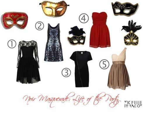 masquerade cocktail dress