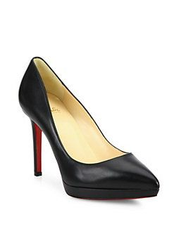 Christian Louboutin Leather Pigalle Plato Pointed Toe Pumps