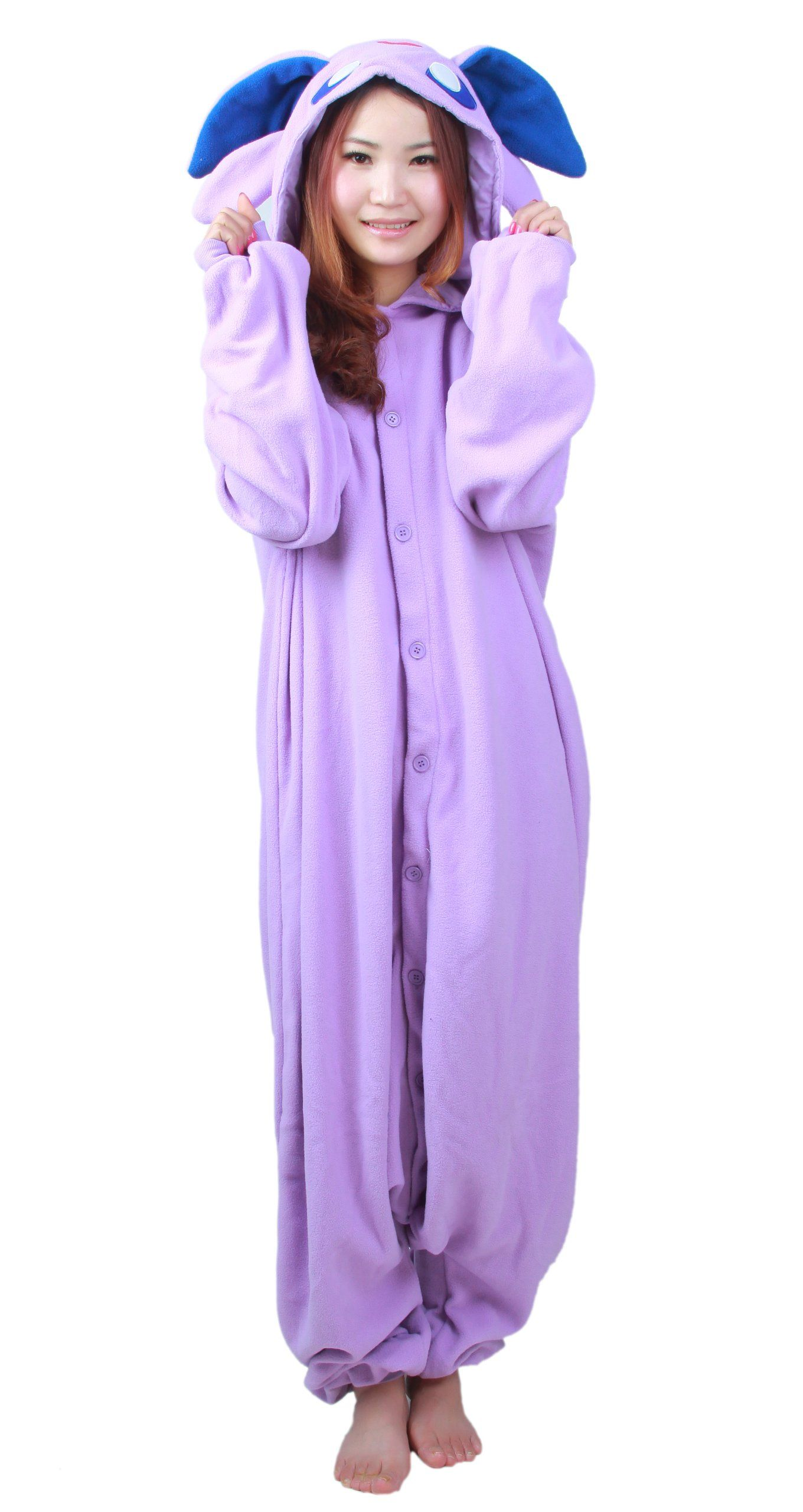 bcf69cec094e Amazon.com  Purple Pokemon Espeon Kigurumi Costume  Clothing ...