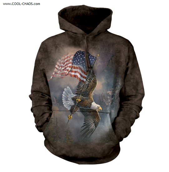 Patriot Eagle T-Shirt //Stunning Eagle art by Ted Blaylock,Tie Dye Men/'s Tee S-5X