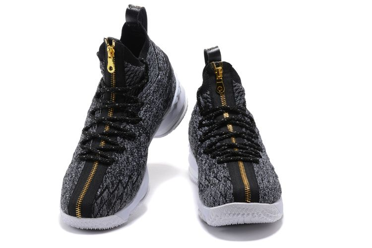 400865c3a9c Black Gold Nike LeBron 15 Zip